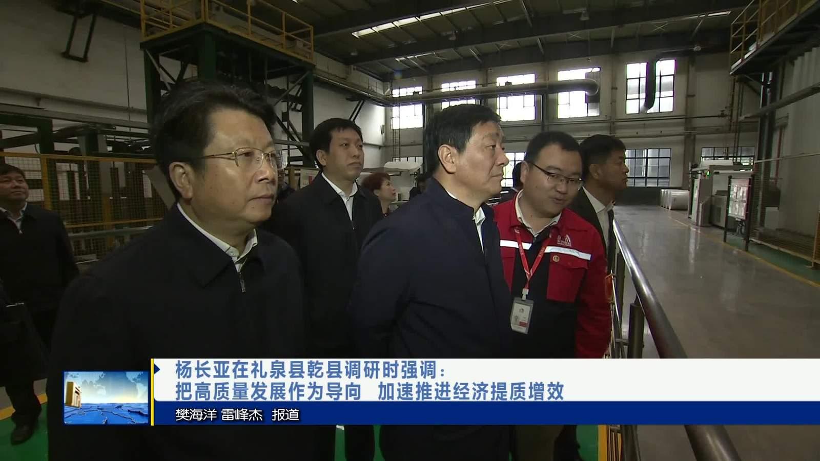 杨长亚在礼泉县乾县调研时强调:把高质量发展作为导向加速推进经济提质