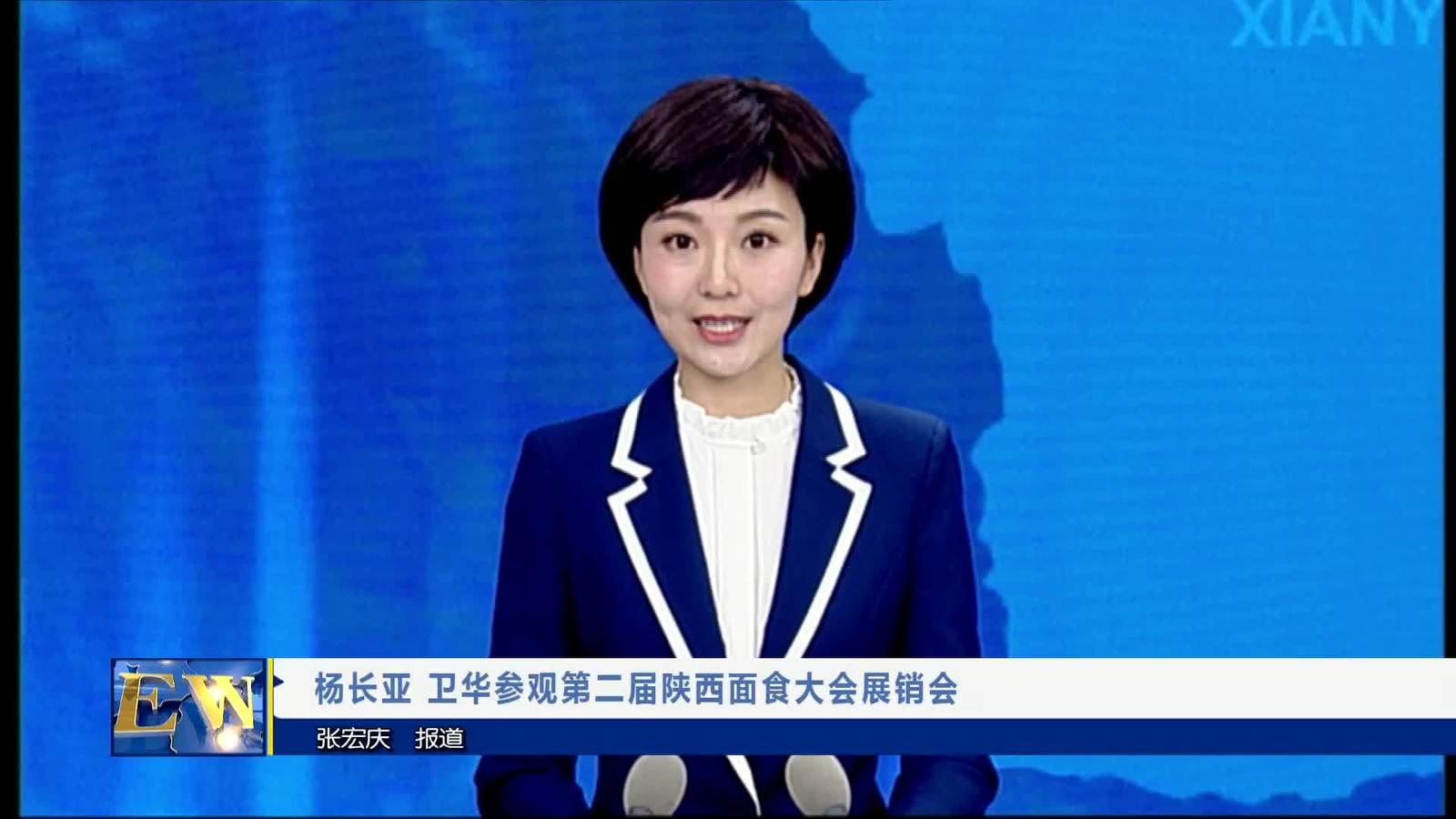 杨长亚  卫华参观第二届陕西面食大会展销会