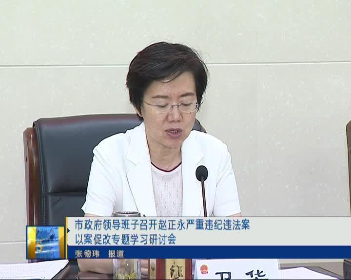 市政府领导班子召开赵正永严重违纪违法案以案促改专题学习研讨会